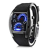 개인 선물 남자 시계 , 디지털 / LED 석영 시계 With 합금 케이스 재질 고무 밴드 스포츠 시계 방수 깊이 31m