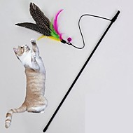 Cat Toy Pet Toys Teaser / Feather Toy Bell Textile Black