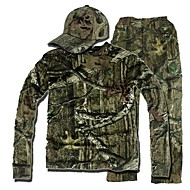 Camouflage Hunting Suit , Camo Hunting Long Sleeve Shirt ,Trousers (Jacket + Trousers + peaked cap)
