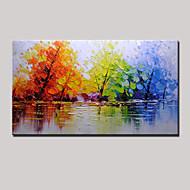 Pintados à mão Abstracto / PaisagemModern 1 Painel Tela Hang-painted pintura a óleo For Decoração para casa