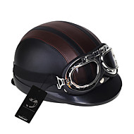 Motorcycle Abs Helmet Detachable Visor + + Brown + Black Durable Safety Goggles