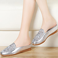Women's Shoes Tulle Flat Heel Comfort/Slippers Loafers/Slippers Office & Career/Athletic/Dress/Casual White/Silver