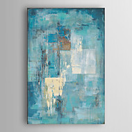 延伸フレーム7壁arts®と手描きの油絵抽象藍壁