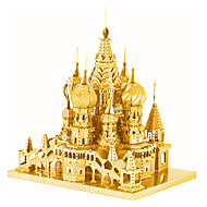 Jigsaw Puzzles 3D Puzzles / Metal Puzzles Building Blocks DIY Toys Castle Metal Silver / Gold Model & Building Toy