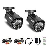Annke®  2Pcs 800TVL IR Cut 24IR 960H Home Security Surveillance CCTV Cameras