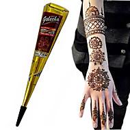 Halloween BLACK COLOR HERBAL HENNA CONES Temporary Tattoo Body ART INK HINA KIT Mehandi(1pcs)