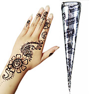 Black Herbal Henna Cones Temporary Tattoo Kit Body Art Mehandi Ink Hina Temporary Tattoos Henna Tattoos Designs Instant Tattoo Paste Adhesive Stencils