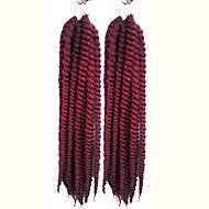 Red Havana Twist Braids Hair Extensions 24inch Kanekalon 2 Strand 75-80g/pcs gram Hair Braids