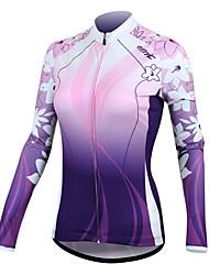 SANTIC Bike/Cycling Jersey / Jacket / Tops Women's Long Sleeve Ultraviolet Resistant / Quick Dry / Wearable / Sunscreen / Thermal / Warm