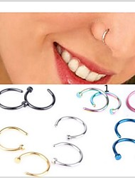 Women's Body Jewelry Nose Rings/Nose Stud/Nose Piercing Nose Piercing Stainless Steel Unique Design Fashion JewelryGolden Light Blue 1#