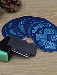 10PCS Nail Art Stamping Image Template Plates + 2 PCS Nail Art Stamping Printer(Random colour)