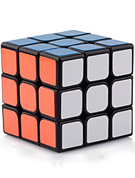 Yongjun® Smooth Speed Cube 3*3*3 Speed / Professional Level Magic Cube Black Smooth Sticker Guanlong Adjustable spring ABS