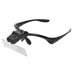 YuanBoTong   Creative Glasses Style Head Magnifier with 5 Different Multiple Lens