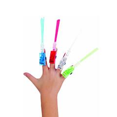 10-Pack LED Fiber Optic Finger Beam Light Luminous Ring Lights Party Favor