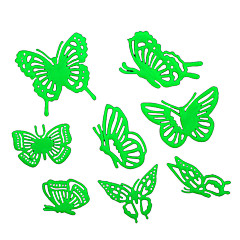 8PCS Noctilucent Butterfly Stickers Wall Poster Children's Toys Decoration