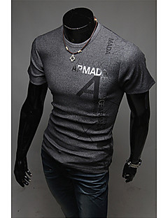 Men's Letter Print Round Neck T-Shirt