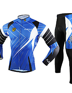FJQXZ Bike/Cycling Tights / Jersey + Pants/Jersey+Tights / Clothing Sets/Suits Men's Long SleeveBreathable / Ultraviolet Resistant /