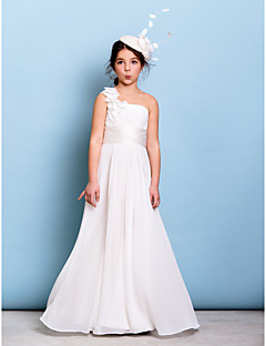 b88de3b703e9 Lanting Bride® Floor-length Chiffon Junior Bridesmaid Dress A-line One  Shoulder with