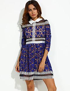 ad820a54be2f Γυναικεία Φόρεμα Σέξι Φαρδιά Συνδυασμός Χρωμάτων Μίνι Κολάρο Πουκαμίσου Άλλα