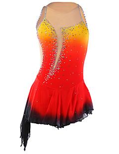 Ice Skating Dress Women's Sleeveless Skating Skirts & Dresses Figure Skating Dress Compression Sequined Spandex / Elastane RedSkating