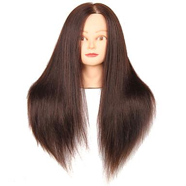 mannequin hoved med hår